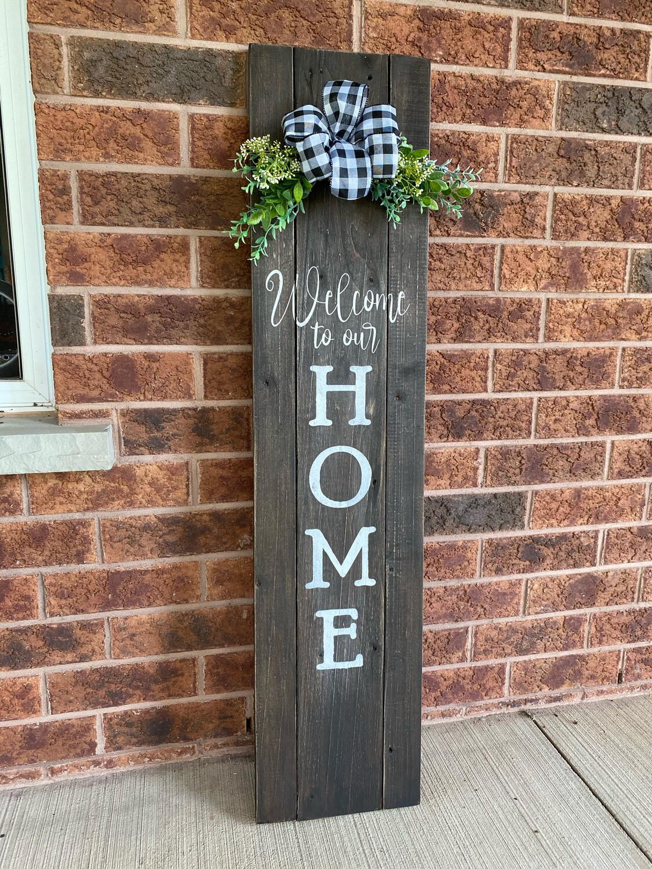 Slatted Home Sign