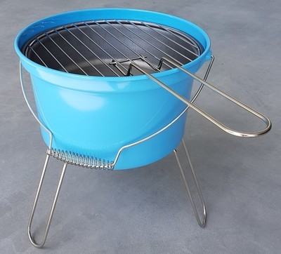 Barbeque emmer blauw