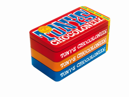 Tony's Chocolonely bewaarblik met 3 repen