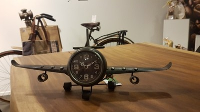 Vliegtuig klok tafelmodel