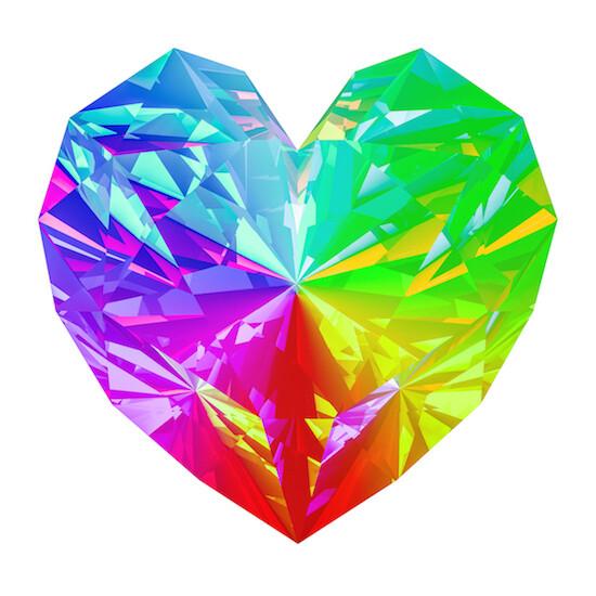 Rainbow Diamond Heart - New Earth Rebirth Solstice Workshop