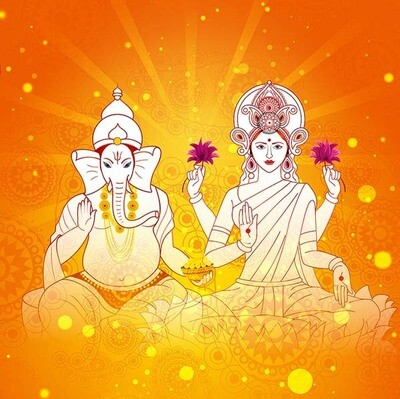 Receiving Wealth with Lord Ganesh and Goddess Lakshmi