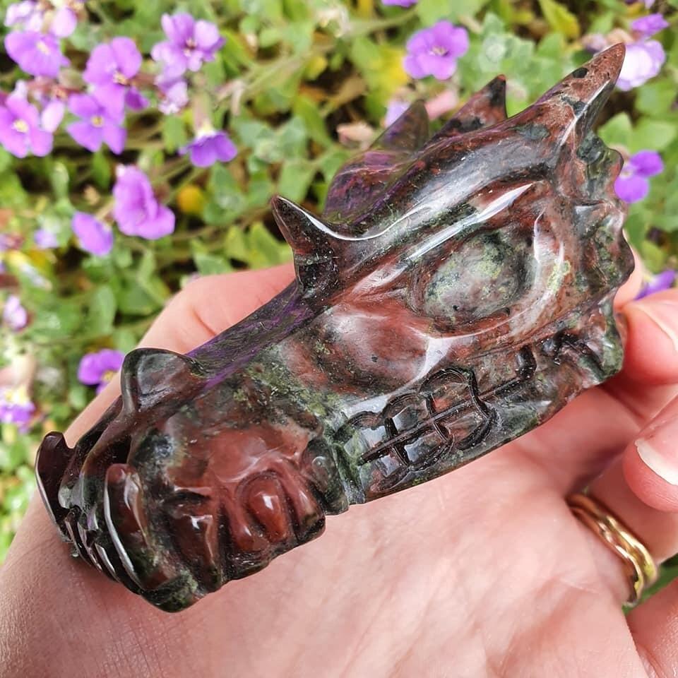 Dragon's Blood Jasper Dragon Skull 3