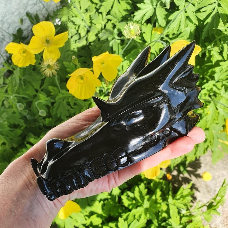 Black Obsidian Master Dragon Skull 5