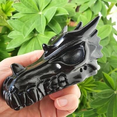 Black Obsidian Master Dragon Skull 4