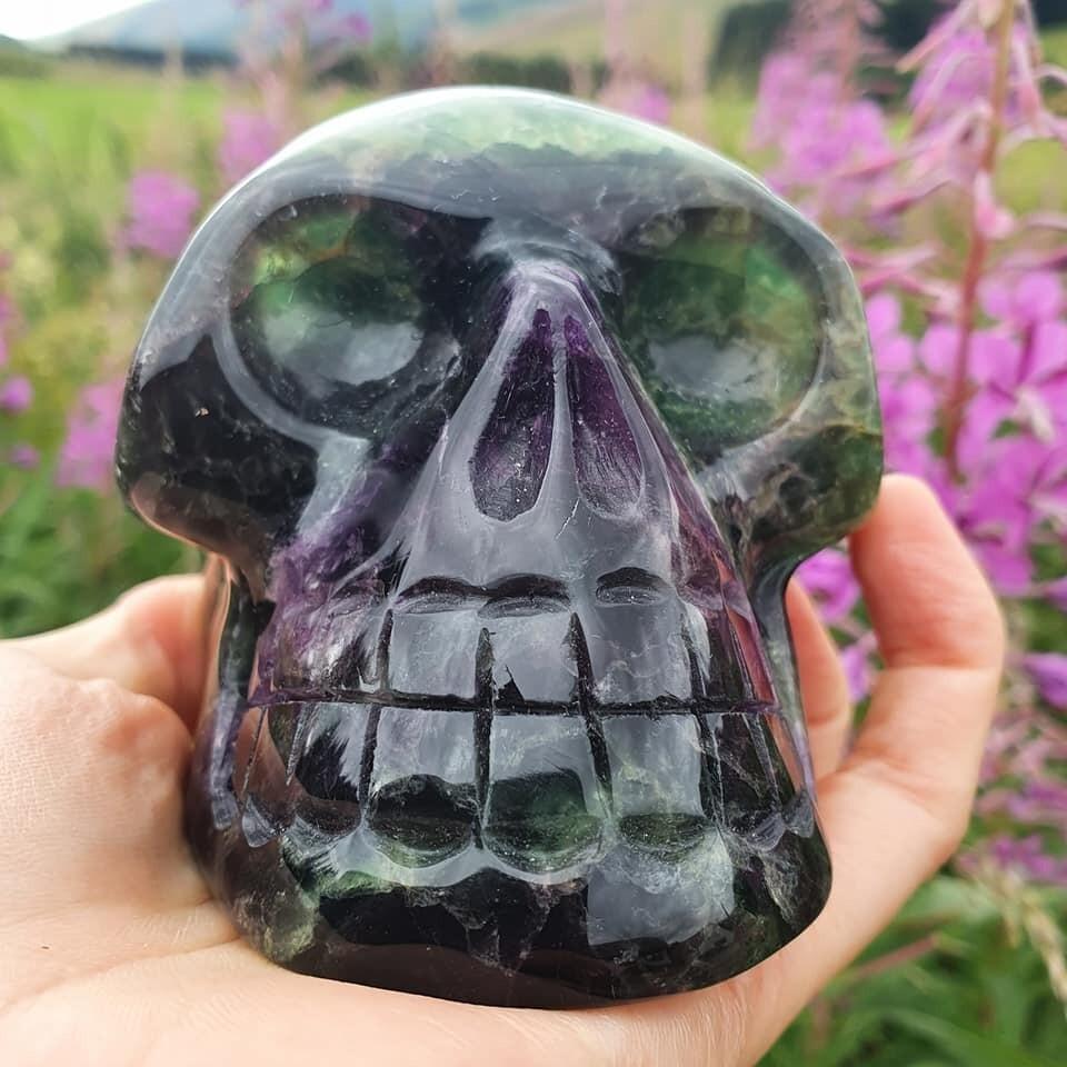 Fluorite Crystal Skull