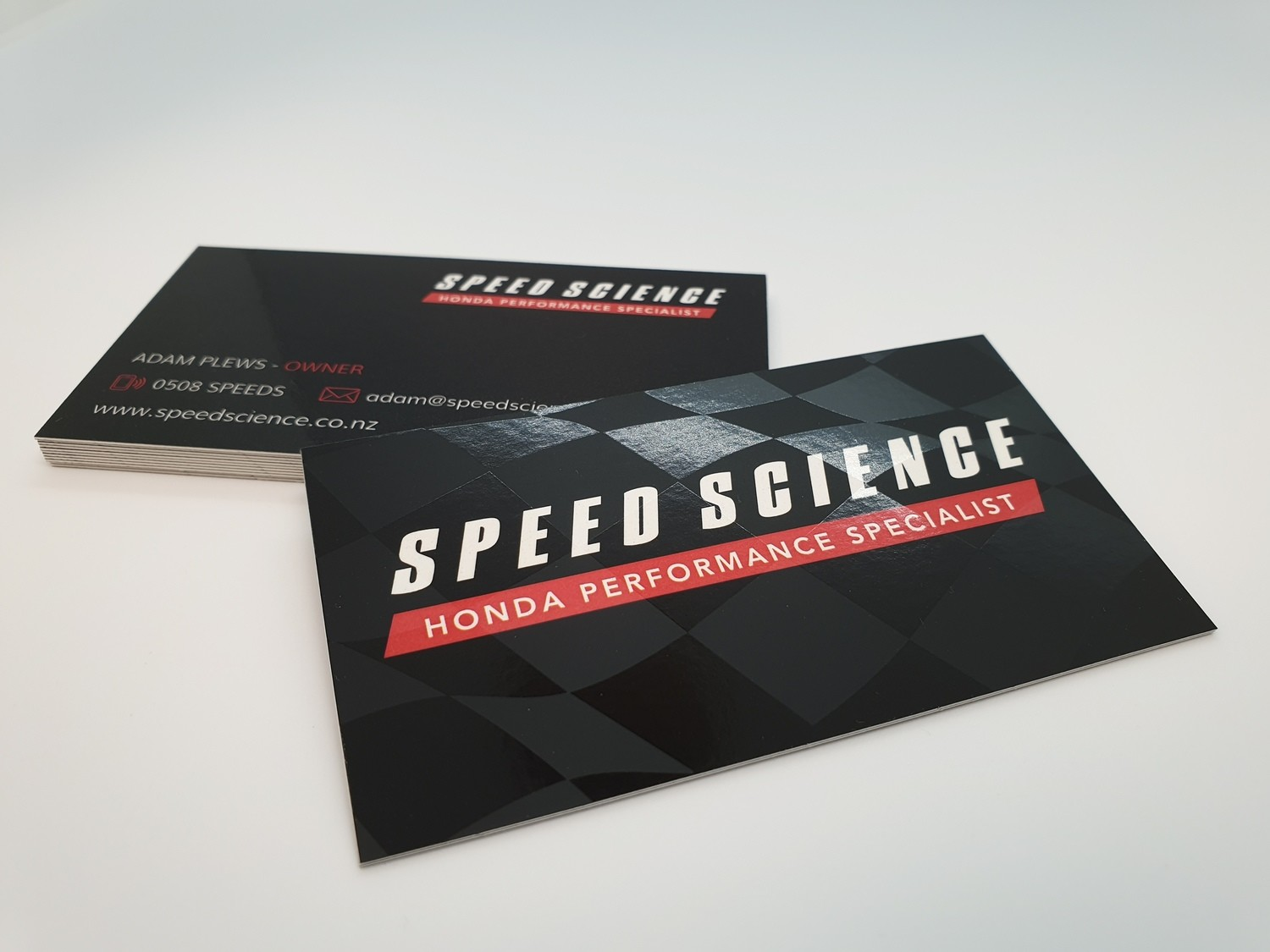 Speciality Laminated Business Cards with Spot Clear (55 x 90mm)
