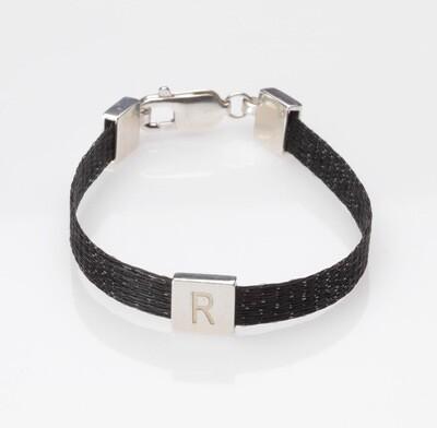 Woven horse hair ribbon bracelet - Crinoline, narrow