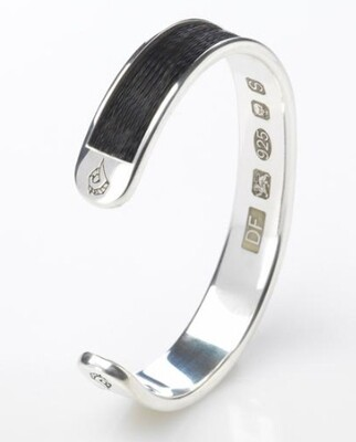Woven inlaid horse hair torque bangle - Crinoline