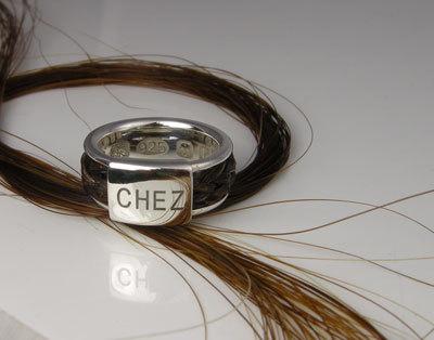 Chunky braided inlaid ring