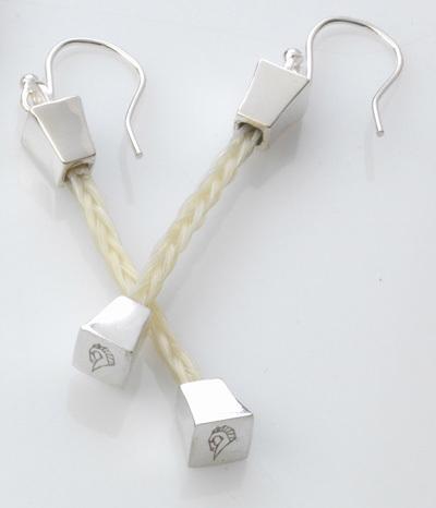 Farriers Nail braided earrings