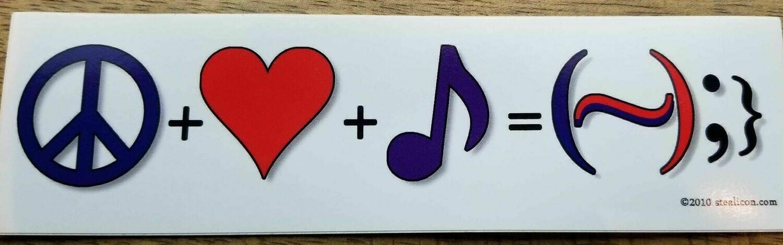 "Happiness Equation ( 7"" Bumper Sticker)"