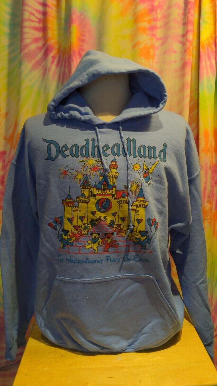Deadheadland Classic HOODIE Carolina Blue Adult Large