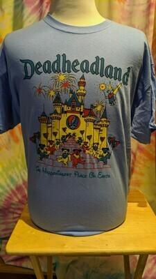 Deadheadland Classic T-shirt Carolina Blue Adult Medium