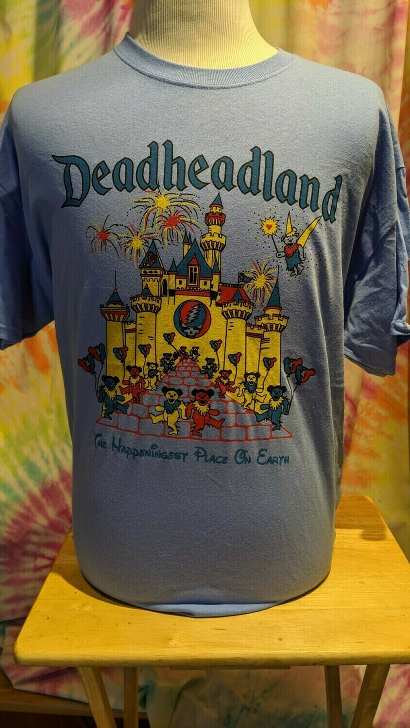 Deadheadland Classic T-shirt Carolina Blue Adult Medium