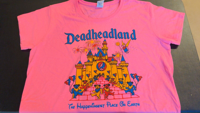 Deadheadland Classic T-shirt Pink Ladies XL (Extra Large)