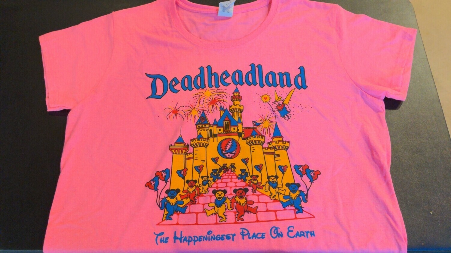 Deadheadland Classic T-shirt Pink Adult 2XL (Double Extra Large)