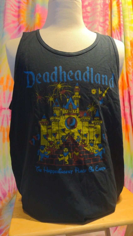 Deadheadland Classic TANK Black Men's Large