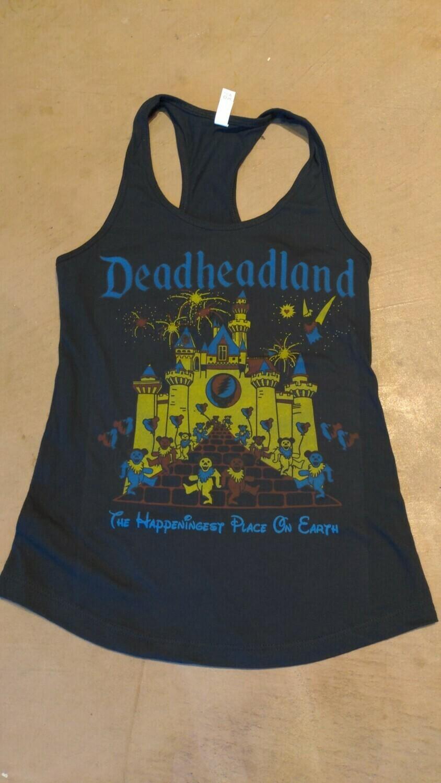 Deadheadland Classic Ladies Racerback TANK Black medium