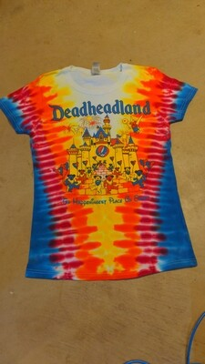 SMALL LADIES Tie-Dye Deadheadland Classic T-shirt