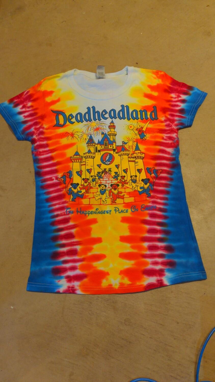 Deadheadland Classic T-shirt TIE DYE Ladies Small