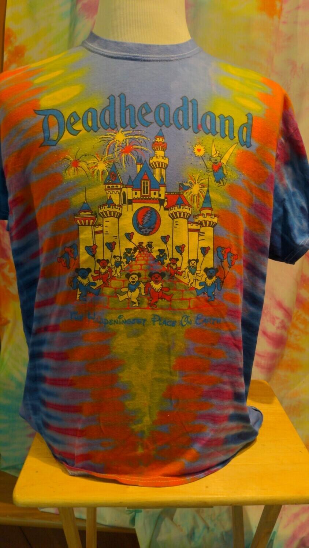 Large Purple Tie Dye Deadheadland Classic T-Shirt