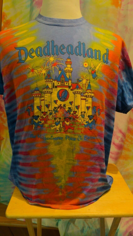 Deadheadland Classic T-shirt TIE DYE Purple Medium Ladies