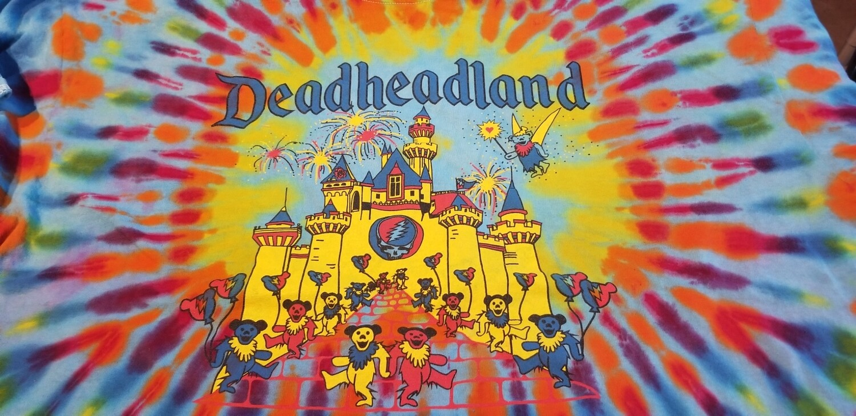 Deadheadland Classic T-shirt TIE DYE Blue Burst Adult 2XL