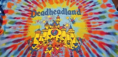 Deadheadland Classic T-shirt TIE DYE Blue Burst Adult 2XL