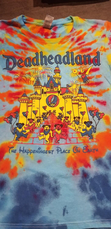Deadheadland Classic T-shirt TIE DYE Blue Burst Small Ladies