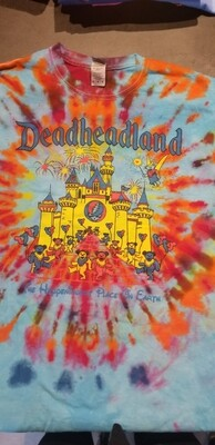 Large Tie Dye Blue Burst Deadheadland Classic T-Shirt