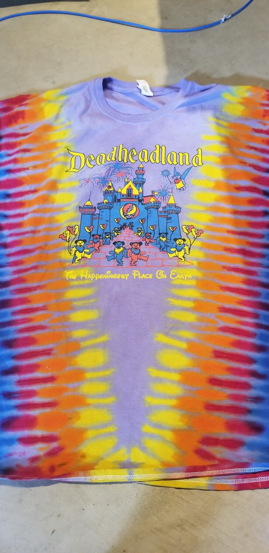 ONE OF A KIND  Blue Castle DHL Classic T-shirt TIE DYE Purple  4XL