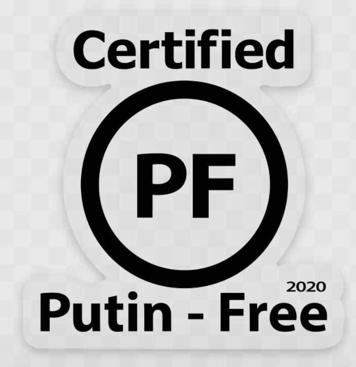 Certified Putin-Free 2020 (sticker)