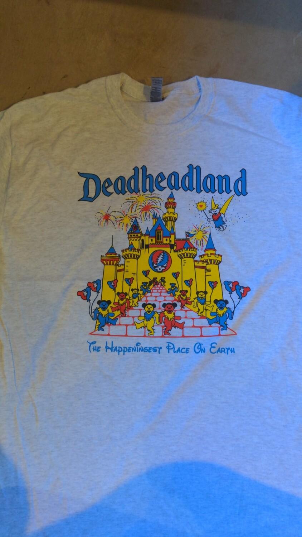 MEDIUM GREY Adult Deadheadland t-shirt (classic)