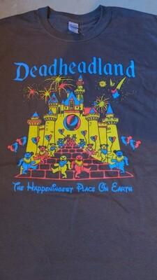 LARGE BROWN Adult Deadheadland t-shirt (classic)