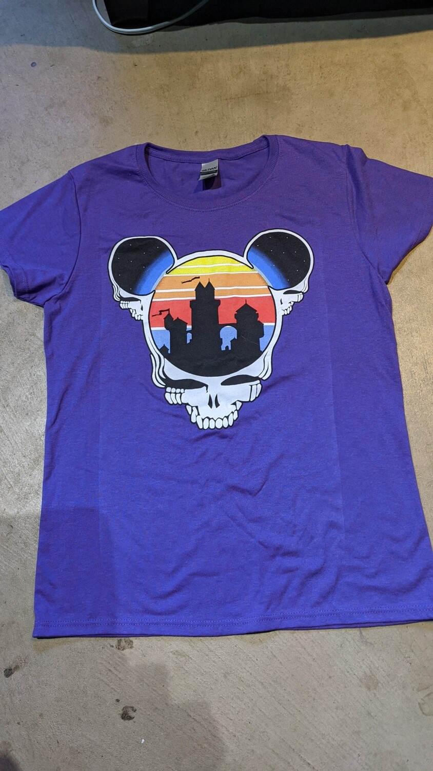 Ladies' SMALL Lilac (purple) Steal Your Ears T-Shirt - short sleeve NO BACK PRINT