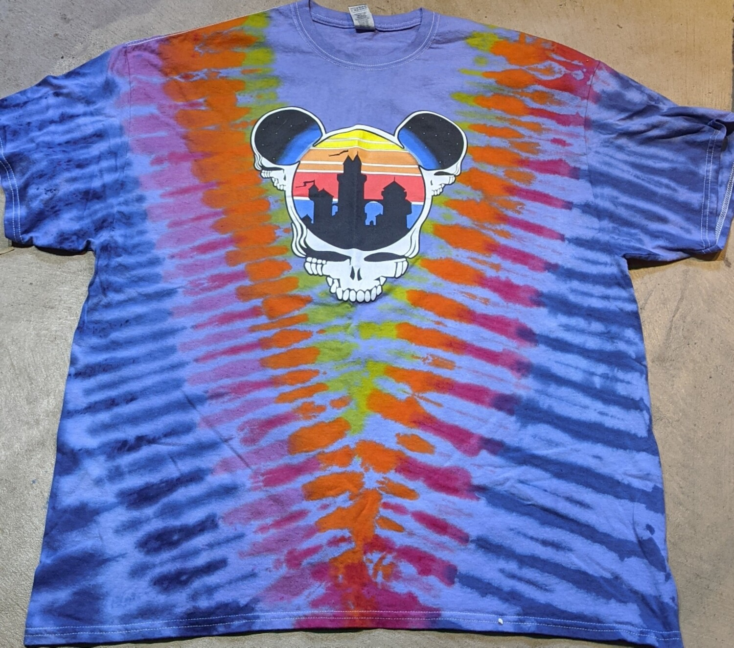 Adult 2XL Tie Dye (purple) Steal Your Ears T-Shirt - short sleeve