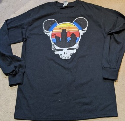Adult XL LONG SLEEVE Black Steal Your Ears T-Shirt