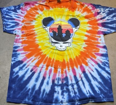 Adult XL Tie Dye (burst) Steal Your Ears T-Shirt - short sleeve