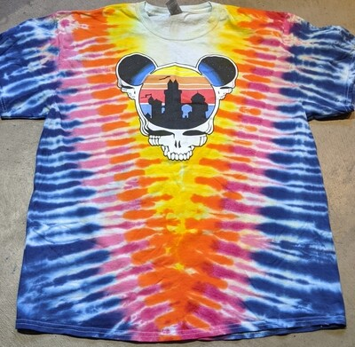 Adult XL Tie Dye Steal Your Ears T-Shirt - short sleeve NO BACK PRINT