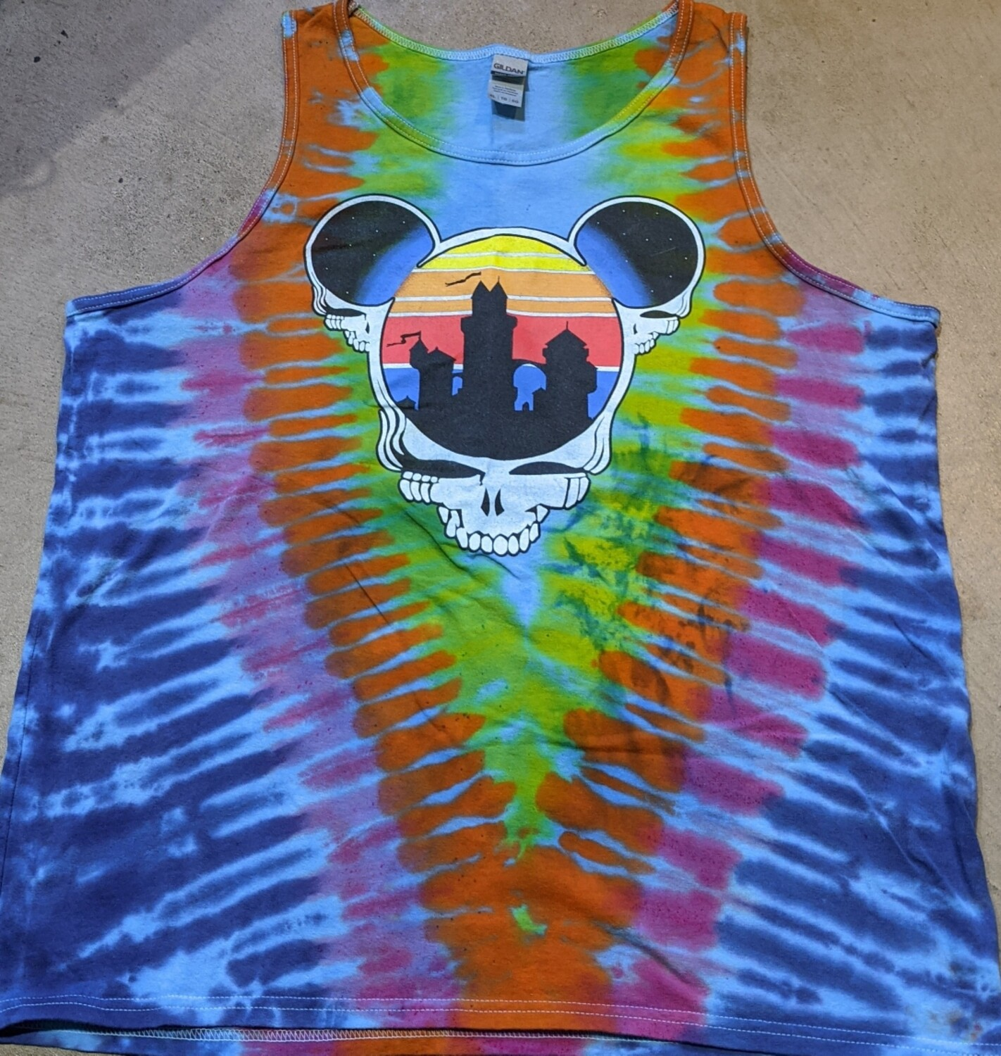 TANK TOP Adult XL Tie Dye (Blue) Steal Your Ears T-Shirt