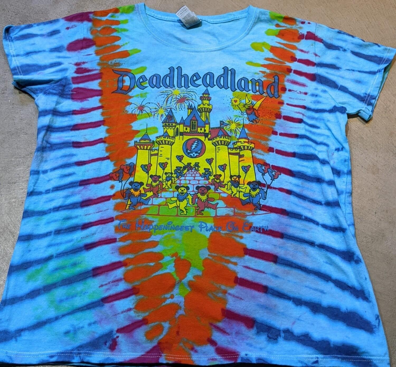 Tie Dye Blue Ladies XL Deadheadland Classic T-shirt