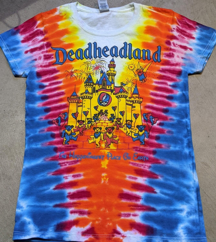 Ladies Small Tie Dye Deadheadland Classic T-shirt