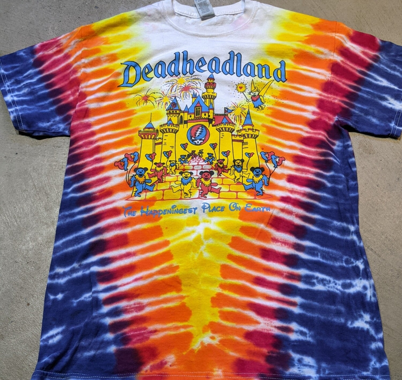 Adult Medium Tie Dye Deadheadland Classic T-shirt