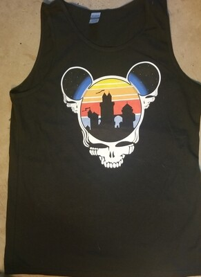 Tank Top Adult Large Black Steal Your Ears T-Shirt