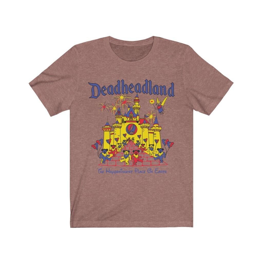 Deadheadland (classic) |  Bella-Canvas Unisex shirt | August 2021 Light Colors
