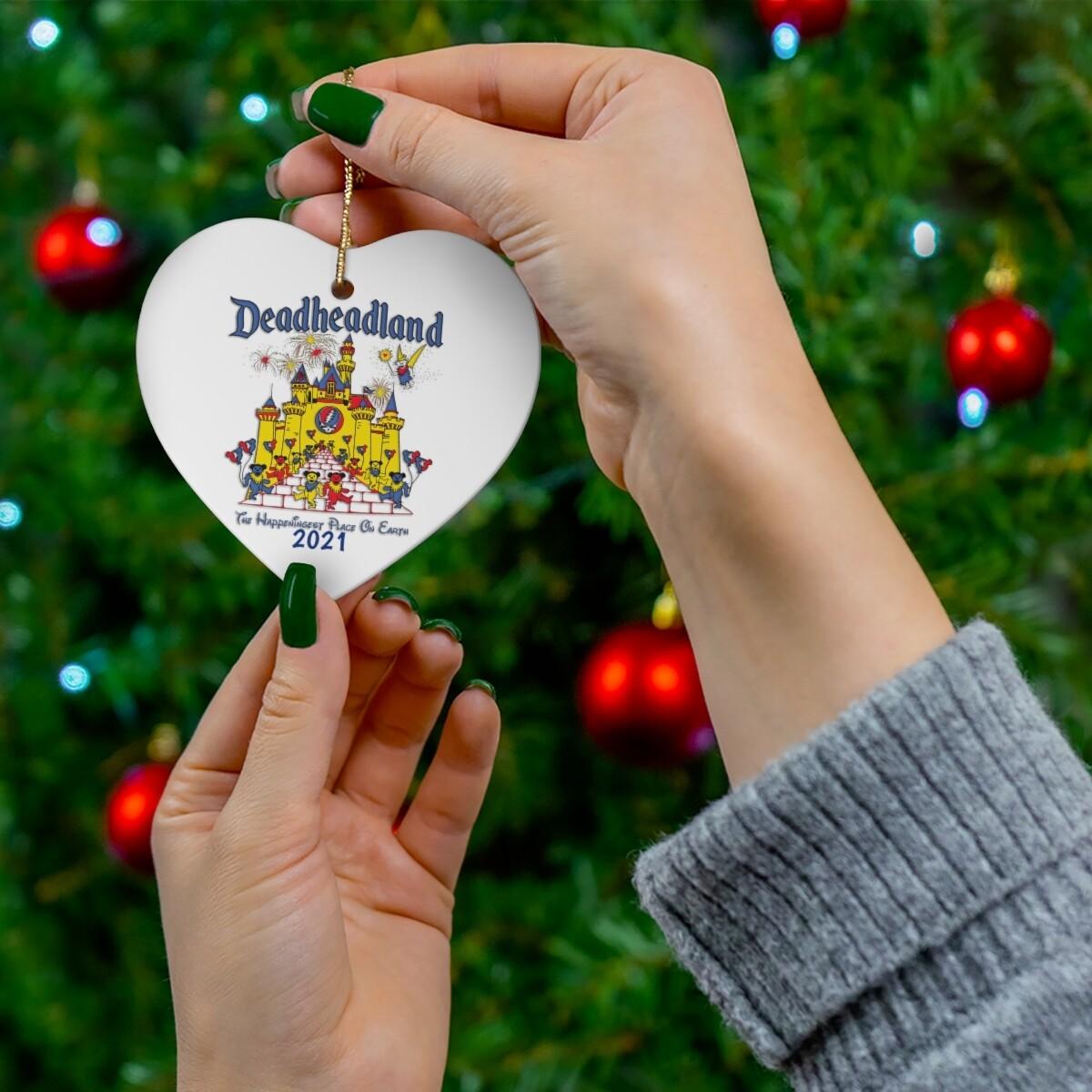 2021 Deadheadland Ornaments #1 - Classic White Heart
