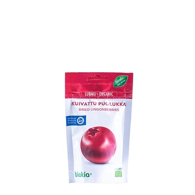 Biokia gedroogde biologische lingonberries 50g