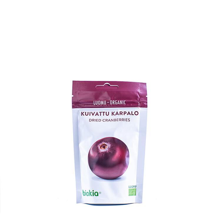 Biokia gedroogde biologische cranberries 50g