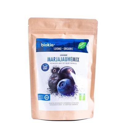 Biokia biologische wilde bessen poeder mix blauw 150g